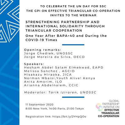 Webinar: Strengthening Partnership and International Solidarity through Triangular Cooperation – 11 September 2020 Featured Image