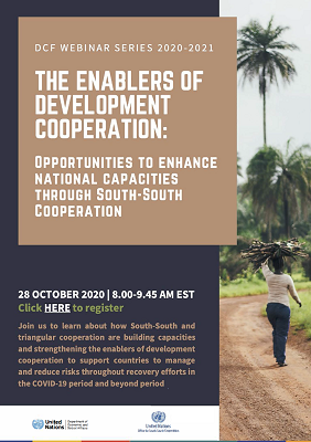 Cooperation – Opportunities to Enhance National Capacities through SSC, 28 October 2020 Resized